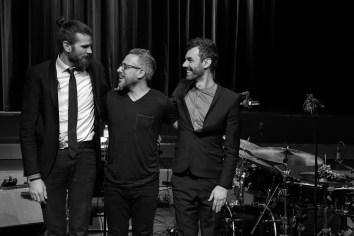 Vincent Peirani Trio nach der Show. Foto: Thomas J. Krebs