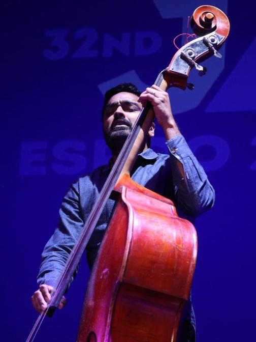Harish Raghava, Ambrose Akinmusire Quartet. Foto: R. Dombrowski