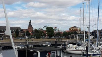 Blick vom Hafen (Theater recht). Foto: Roland Spiegel