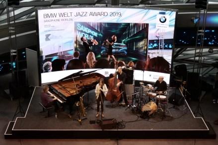 Céline Bonacina Crsytal Quartett Live. Foto: T. J. Krebs
