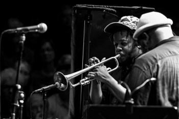 Jazzfest Berlin 2019. Ambrose Akinmusire mit Origami Harvest © HuPe-kollektiv (PB)