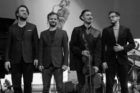 Posieren für den Fotografen: das Baldych Quartett. Foto: TJ Krebs