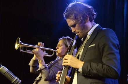 Ingrid Jensen und Tobias Meinhart. Foto: Michael Scheiner