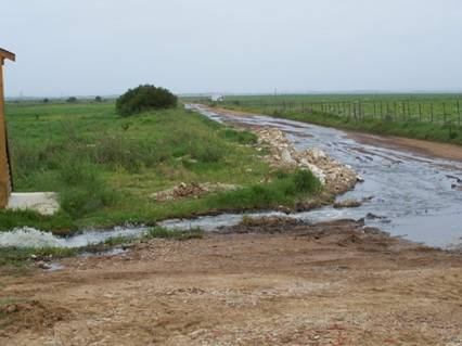 Rivers of sewage are common place in the Kouga