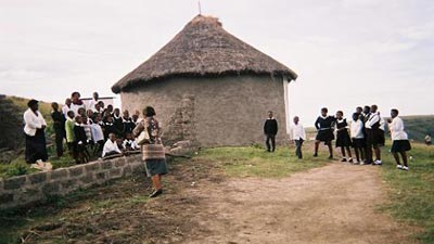 Mud hut school 1