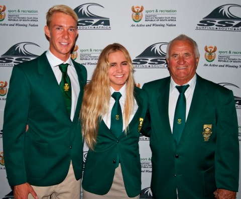 Dylan Lightfoot, Gina Smith and their coach Graham Hynes