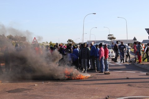 The protest last week in Jeffreys Bay