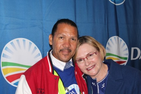 Jeffreys Bay local Gerald Prinsloo with Helen Zille at the DA Provincial Congress