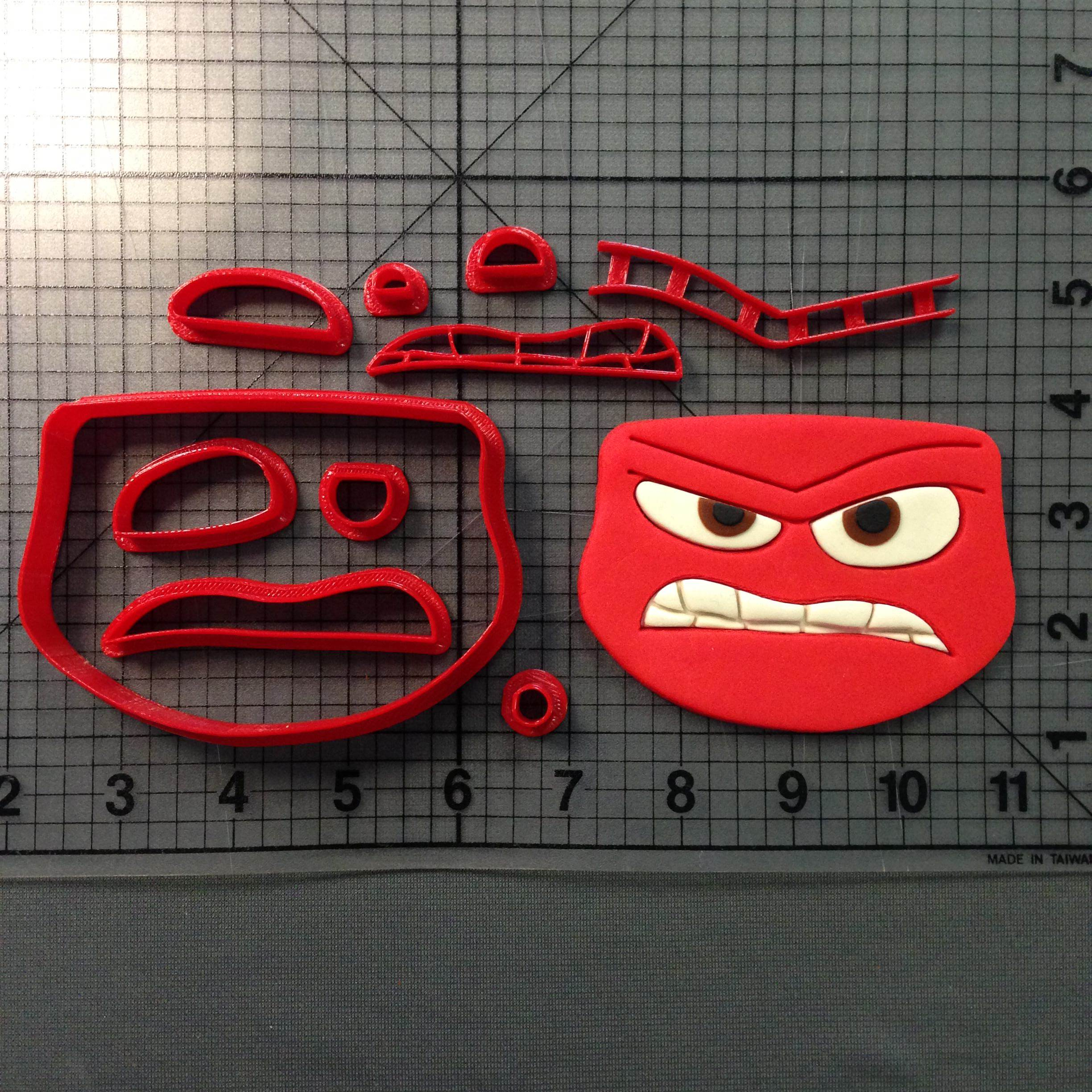 Inside Out Anger Cookie Cutter Set