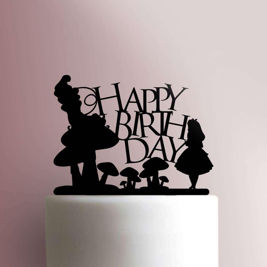 Alice In Wonderland Happy Birthday 225 240 Cake Topper Jb Cookie Cutters