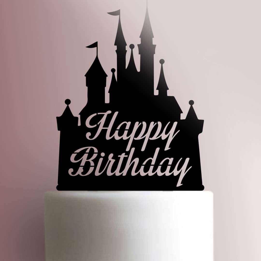 Disney Castle Happy Birthday 225 290 Cake Topper Jb Cookie Cutters