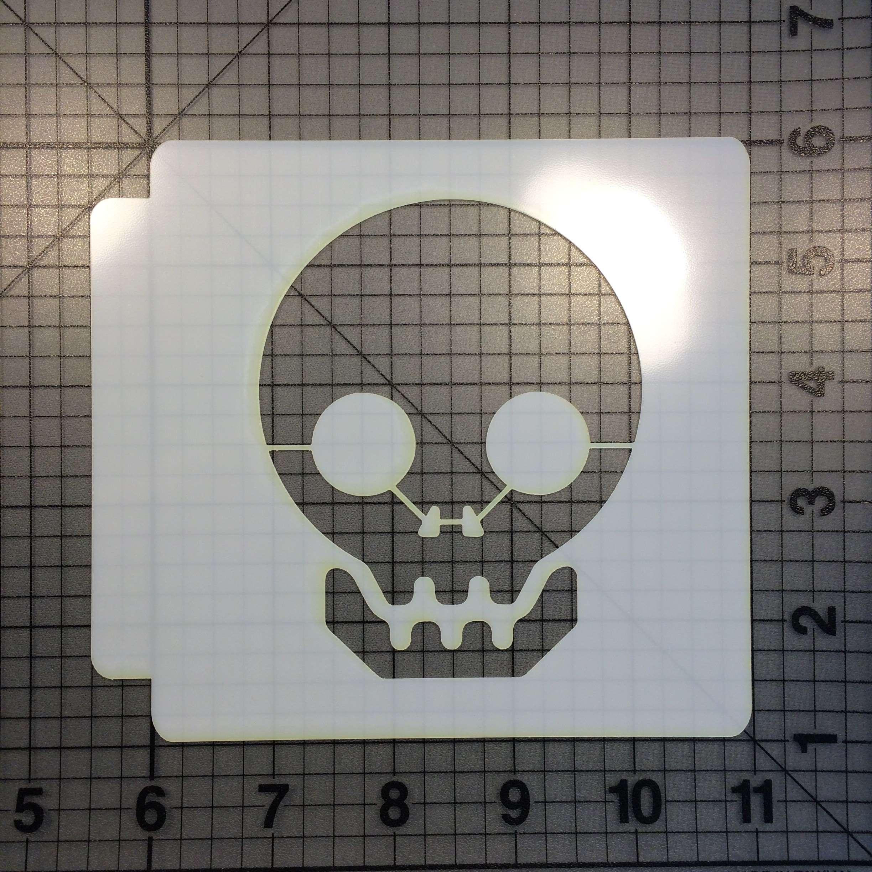 Skull 100 Stencil