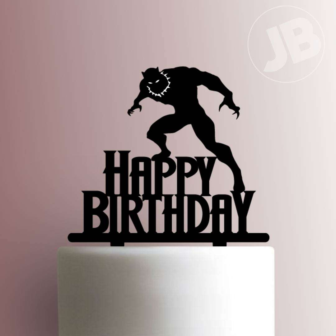 Black Panther Happy Birthday 225 702 Cake Topper Jb Cookie Cutters