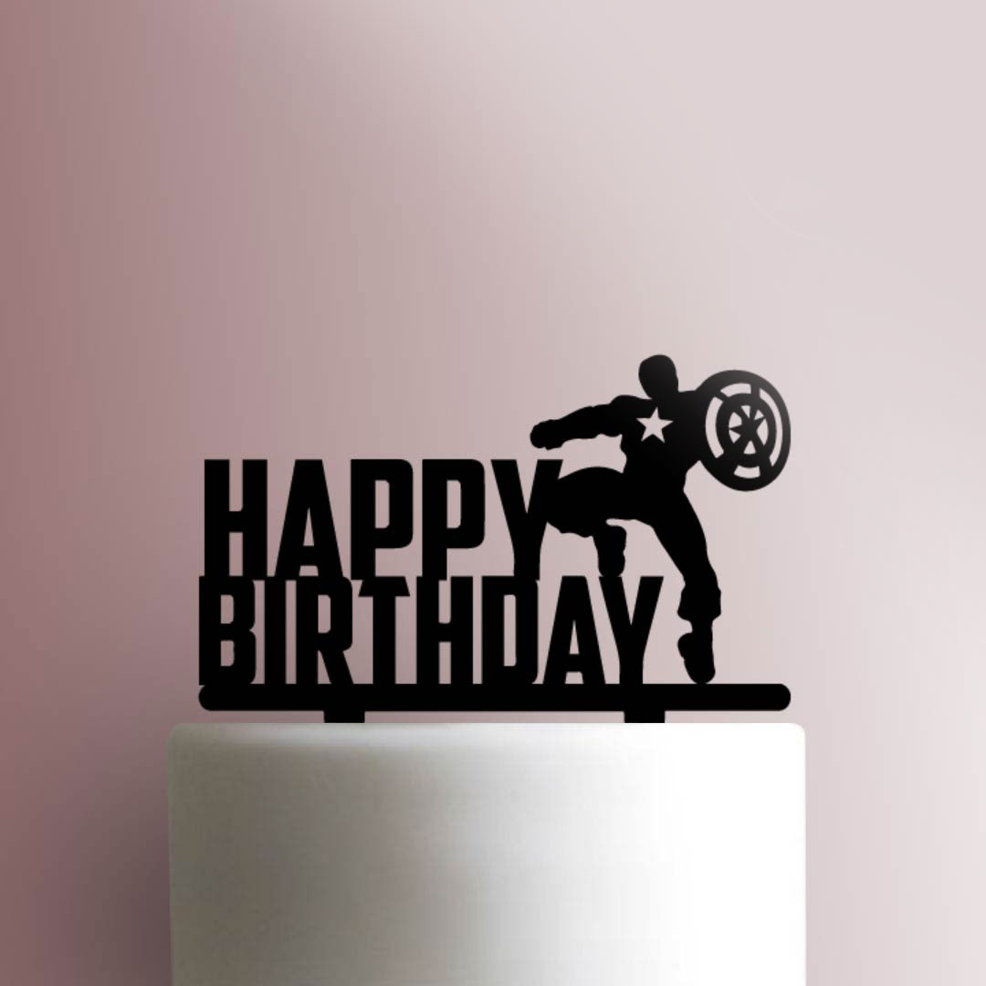 Captain America Happy Birthday 225 763 Cake Topper Jb Cookie Cutters