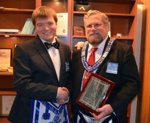 John Rowe recognized as Mason of the Year
