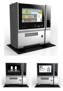 Japan creates a new innovative touch panel vending machine!