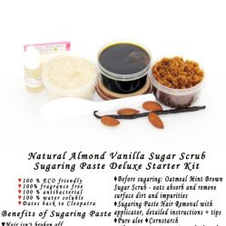 JBHomemade Natural Almond Vanilla Brown Sugar Scrub Sugaring Paste Starter Kit