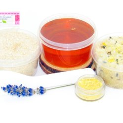JBHomemade Natural Lavender Lemon Sugar Scrub Sugaring Wax Starter Kit