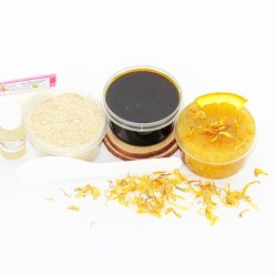 JBHomemade Natural Orange Calendula Sugar Scrub Sugaring Paste Starter Kit