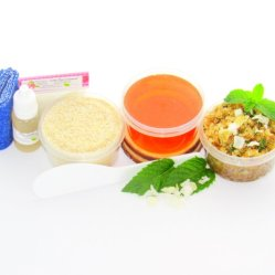 JBHomemade Natural Peppermint Coconut Sugar Scrub Sugaring Wax Starter Kit