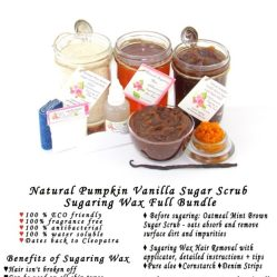 JBHomemade Natural Pumpkin Vanilla Brown Sugar Scrub Sugaring Wax Full Bundle