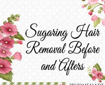 Sugaring Hair Removal Before and After Board Cover