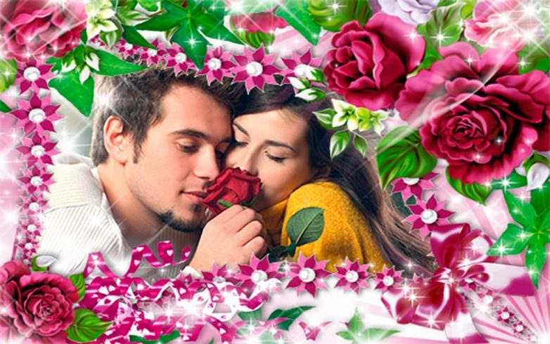valentines day photo frames app
