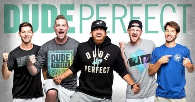 Dude Perfect, #3, list of top 10 highest paid YouTubers for 2018.