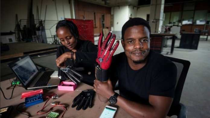 Kenyan invents smart gloves that translate sign language movements into plain language audio...recognises letters as against hand movements..