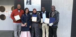 Elijah Addo was given the entrepreneurs award for his Okumkom app and his community food stores project in Tokyo, Japan