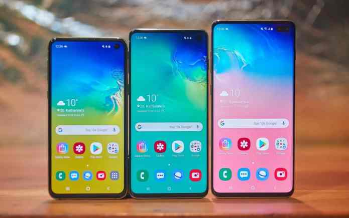Samsung Galaxy S10 series with snapdragon 855