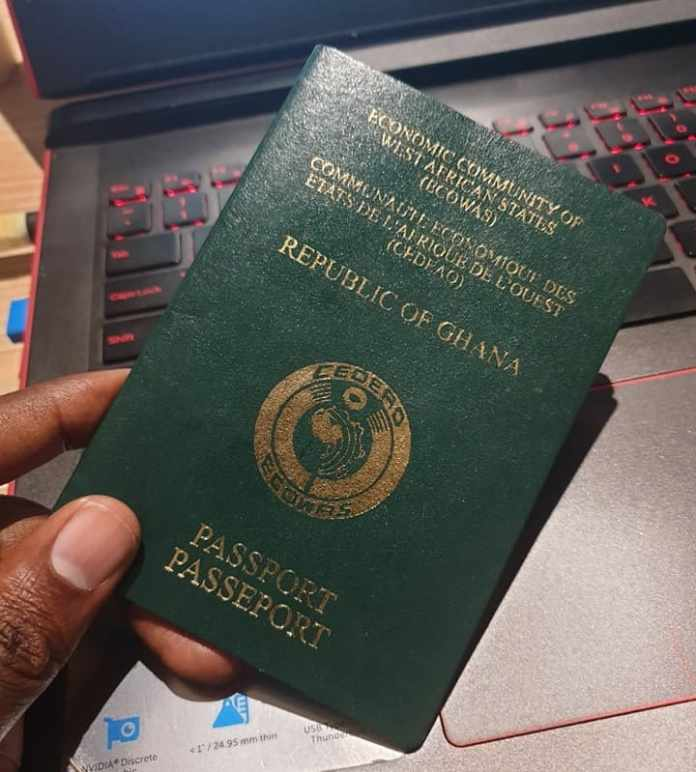 ghana passport application