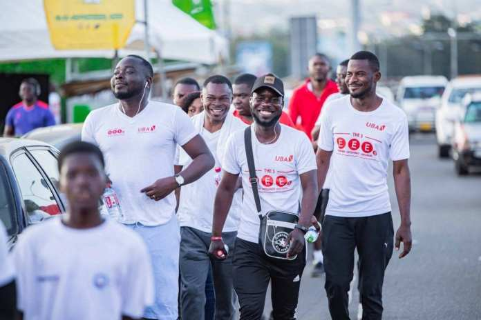 "UBA Ghana organizes another ""Jogging to Bond"" exercise 1"