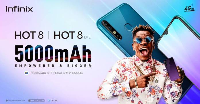 6000 pieces of the new Infinix Hot 8 sold in a day