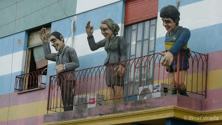 Argentina - Buenos Aires - La Boca - Caminito - Carlos Gardel, Evita Peron e Maradona