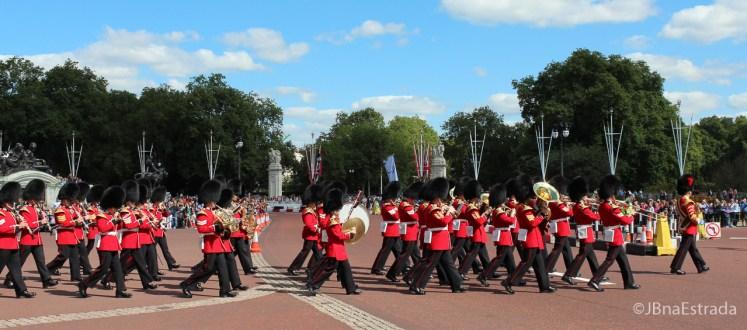 Inglaterra - Londres - Palacio de Buckingham - Final da Troca da Guarda