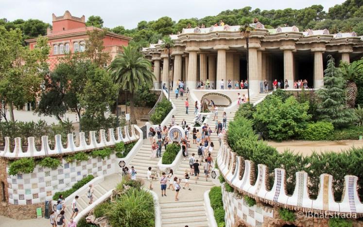 Espanha - Barcelona - Park Guell - Escala Monumental e Sala Hipostila