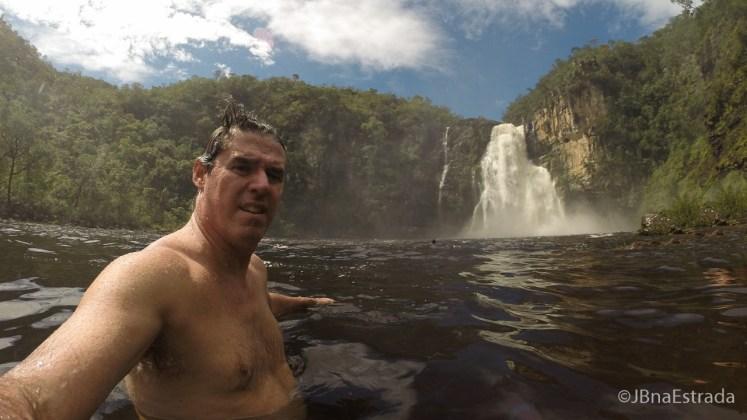 Brasil - Goias - PN Chapada dos Veadeiros - Trilha dos Saltos - Salto do Rio Preto 80m