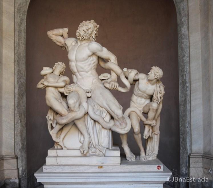 Museus Vaticanos - Museu Pio Clementino - Patio Octogonal - Agesandro, Atenodoro e Polidoro Grupo de Laocoonte