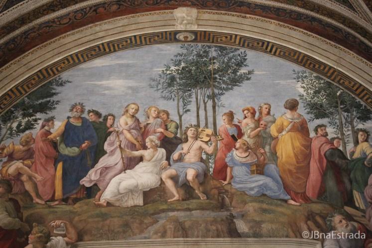 Museus do Vaticano - Salas de Rafael - Sala da Segnatura- Escola de Atena