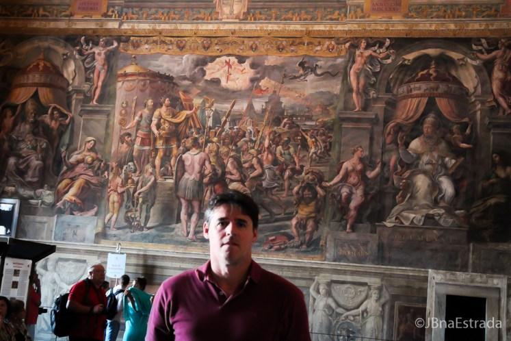 Museus Vaticanos - Salas de Rafael - Sala de Constantino - A Visao da Cruz