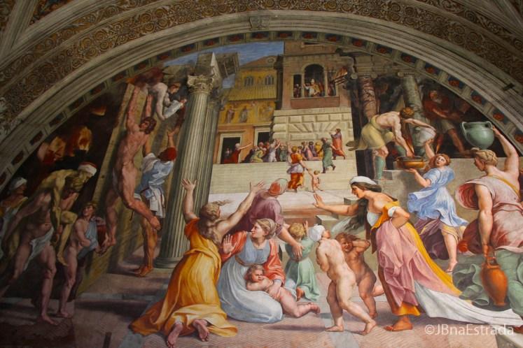 Museus Vaticanos - Salas de Rafael - Sala do Incendio de Borgo