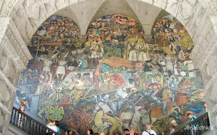 Mexico - Cidade do Mexico - Zocalo - Plaza de la Constituicion - Palacio Nacional - Mural de Diego Rivera