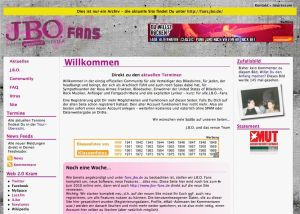 Screenshot J.B.O. Fans Archiv