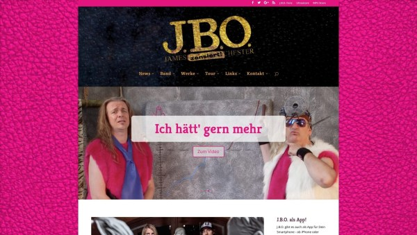J.B.O. Website 2016 (Screenshot)