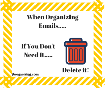 Email organization graphic