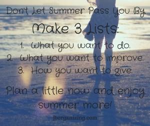 summer lists