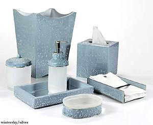 mike & ally custom color bath sets and bathroom furnishings.