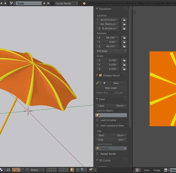 Umbrella UV Blender with PNG image