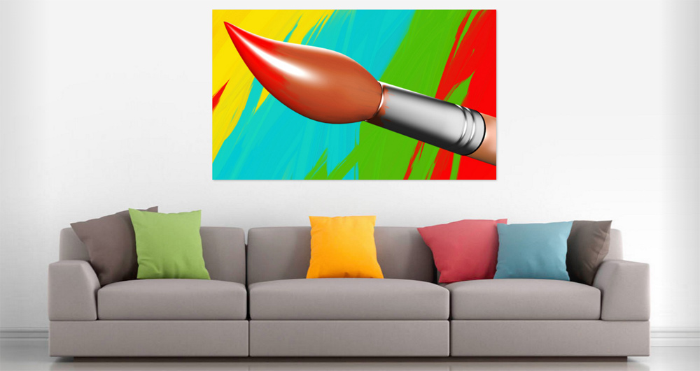 Paintbrush colorful painted background - Penseel